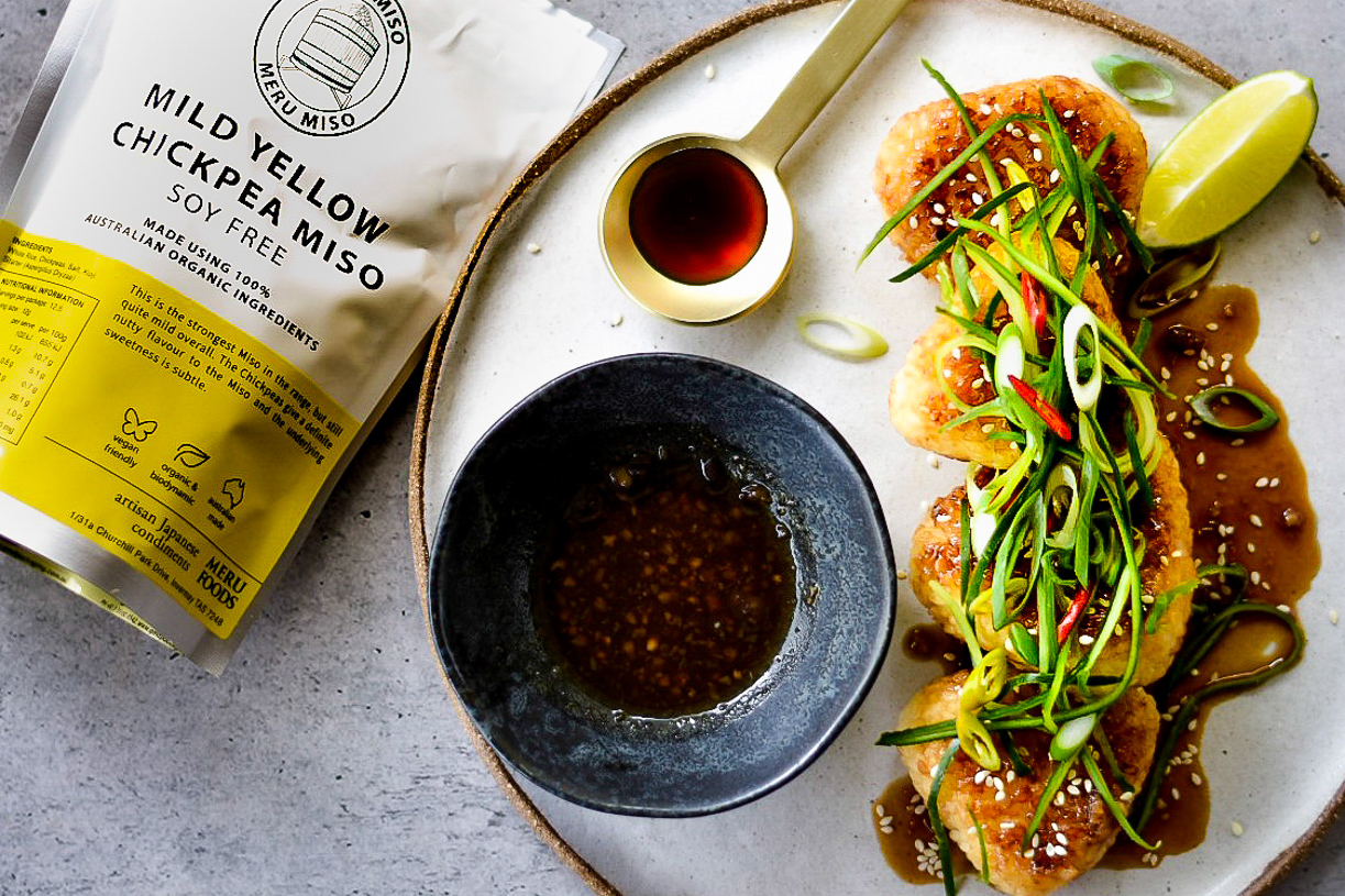 Chickpea Miso Rice Balls // Meru Miso.Photography and styling by  Alexandra Gow .