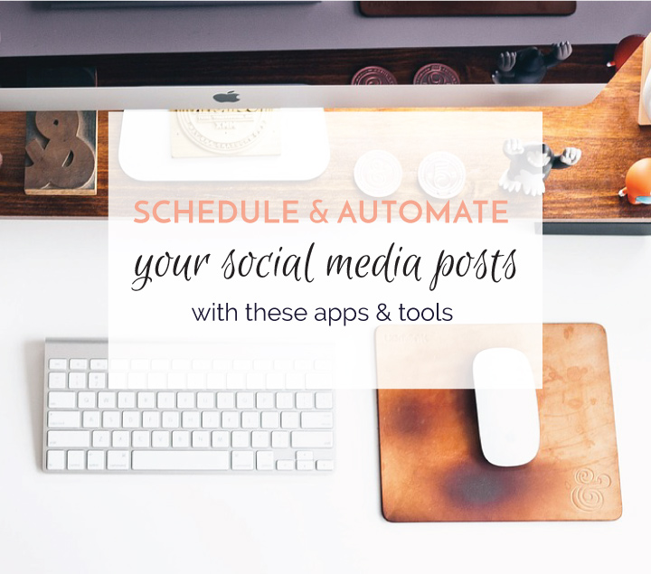 The best social media apps to schedule your posts. Automate your social media posts. #bloggingtips #socialmediatips