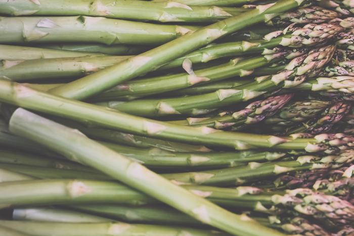 Fresh asparagus, Farmer's market.