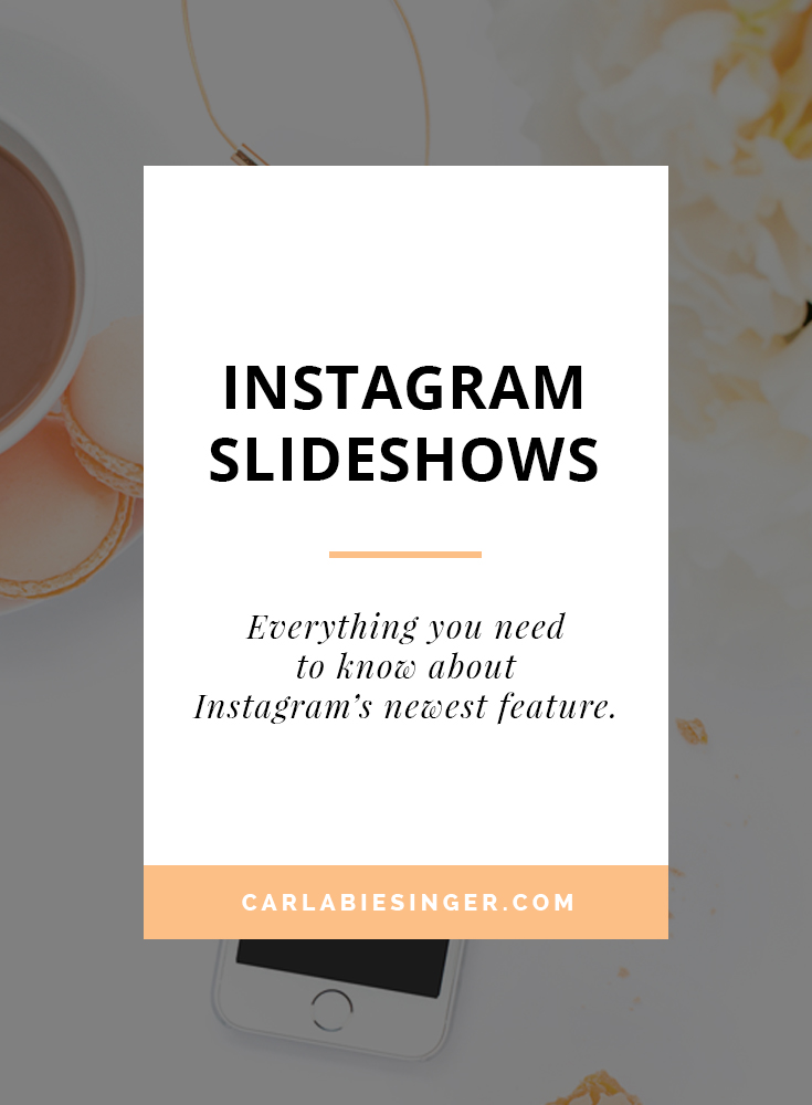 Instagram slideshow, Instagram features. #Instagramtips, #bloggingtips