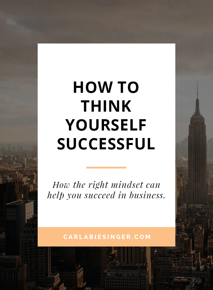 How to think yourself successful, mind power, mind set