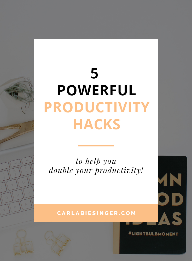 5 powerful productivity tips to increase your productivity and get things done