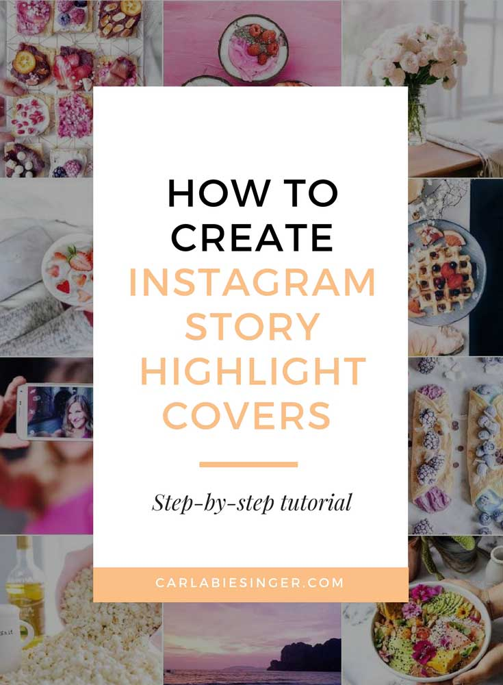 Instagram Story Highlight Covers, Canva Tutorial
