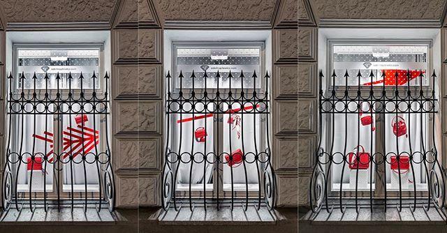 Wielka miłość, wielka strzała♥️Walentynkowa @sabrinapilewicz #tbt #windowstoriesbymalwa #windowdisplay #vm #visualmerchandising #retaildesign #retail