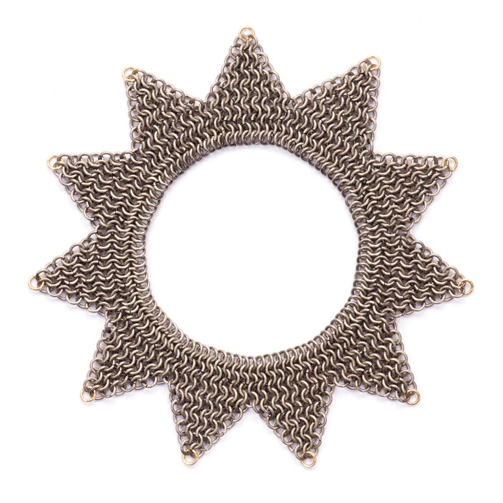 Titanium and 18ct Gold Jester Bracelet