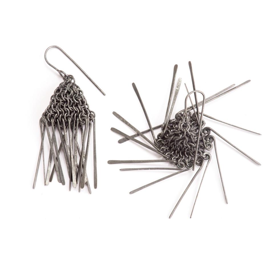 Oxidised Silver Jellyfish Earrings