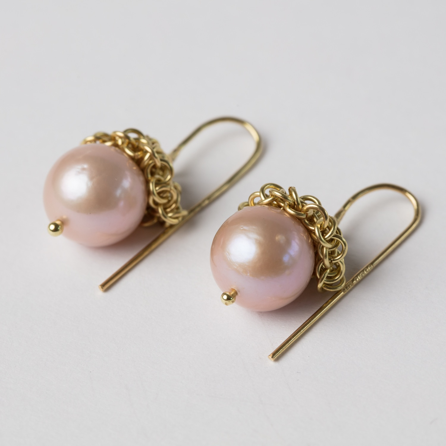Pearl and 18ct Gold Acorn Earrings
