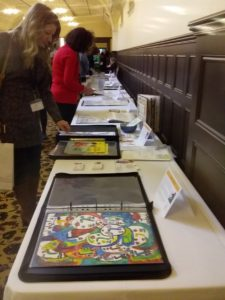 Some of the portfolios on display at KidLitVic 2019