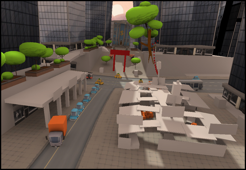 Early developemnt for  Chinatown  map (Snipers vs Thieves)