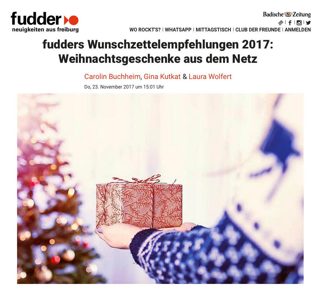 Badische Zeitung November 2017