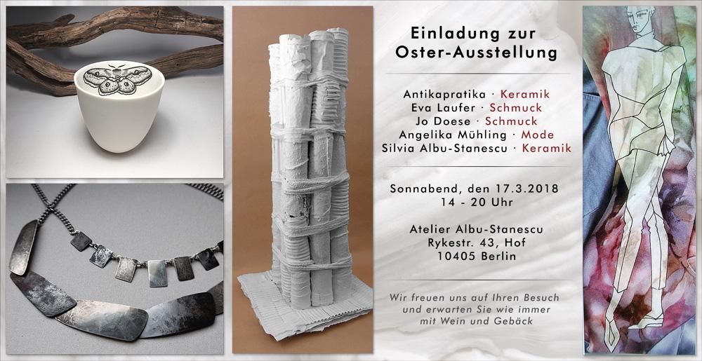 Einladung Ostern 2018, Berlin, Keramik, Atelier, Werkstatt