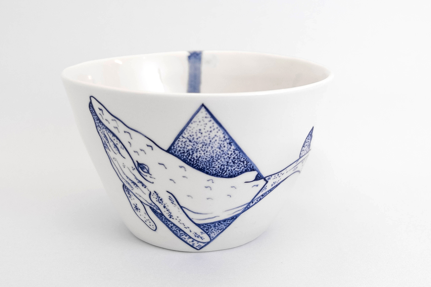 large bowl porcelain handmade blue white whale tattoo modern minimal geometric berlin style tattoo dinnerware antikapratika.jpg