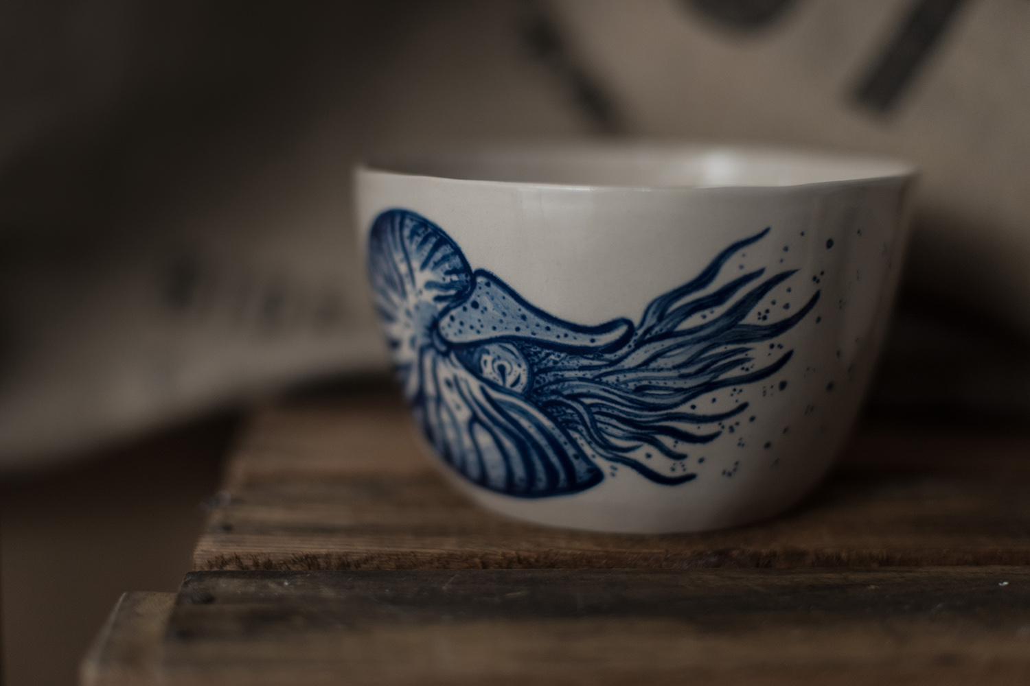 bowl tattoo ceramic blue nautilus fish porcelain handmade hand painted Berlin Antikapratika.jpg