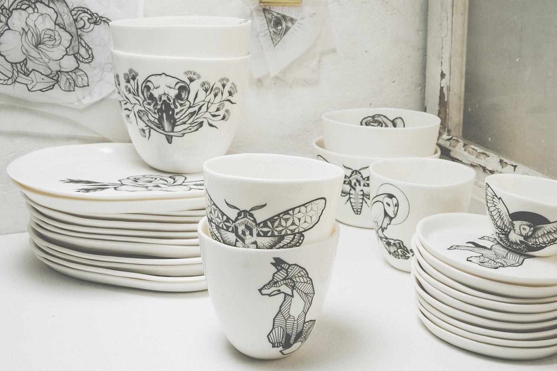 Black Lines tattoo porcelain handmade ceramics berlin designer modern fashion artist Antikapratika.jpg