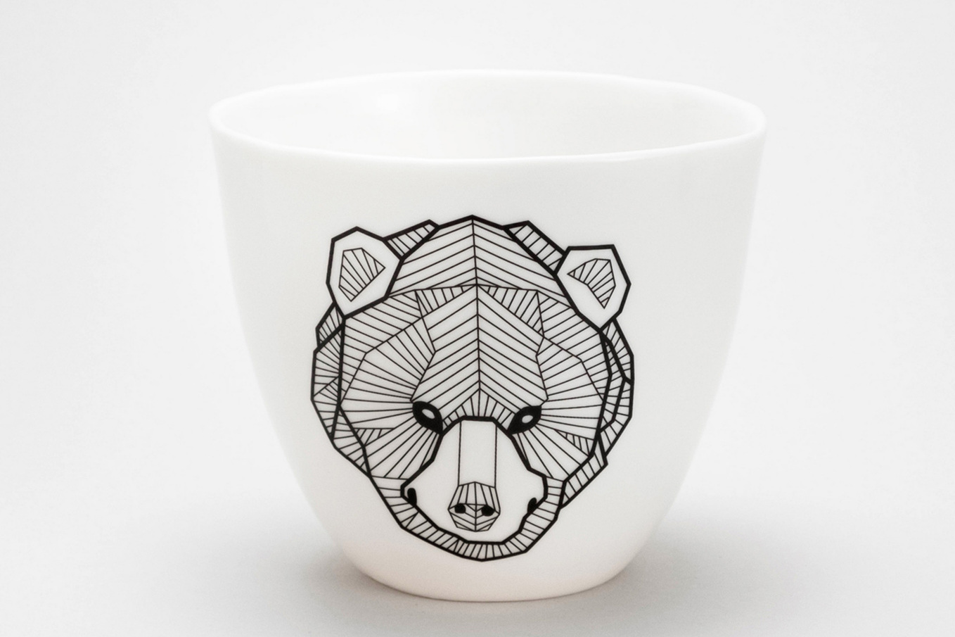 Berlin Bear ceramic black tattoo geometric fine lines handamde porcelain maxi mug verly large ramen bowl Antikapratika.jpg