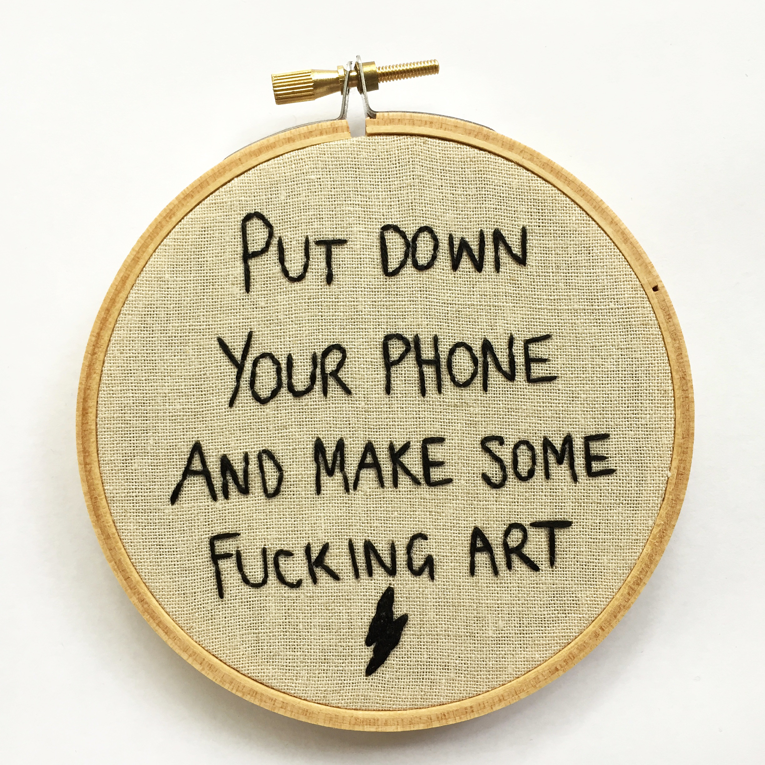 Put down your phone and make some fucking art