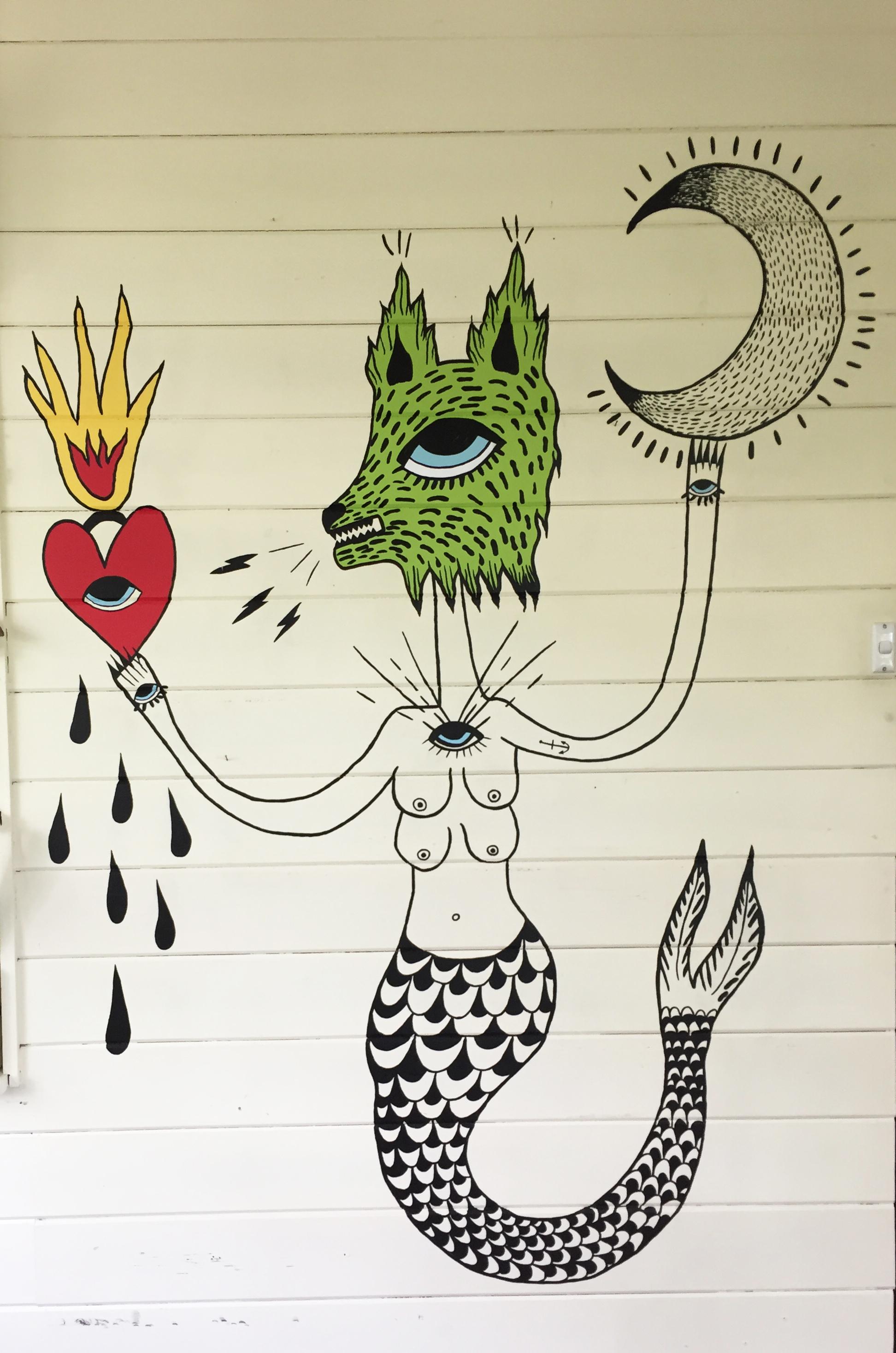 Mer-wolf Mural