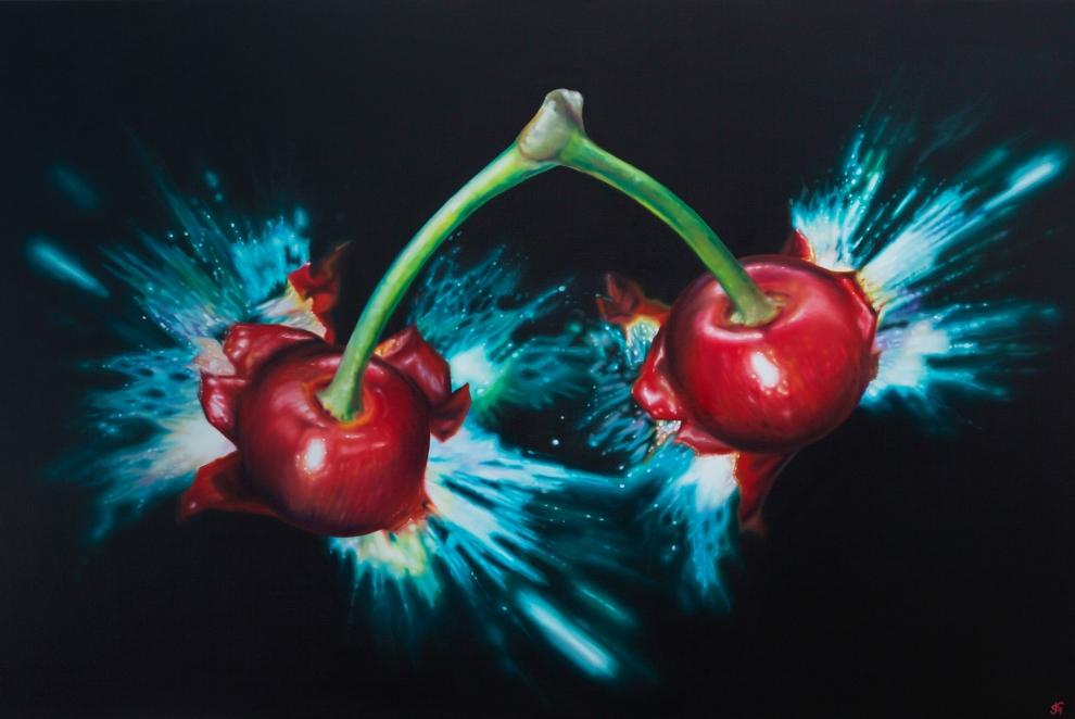 'Cherry Bomb', 80x120cm oil on canvas