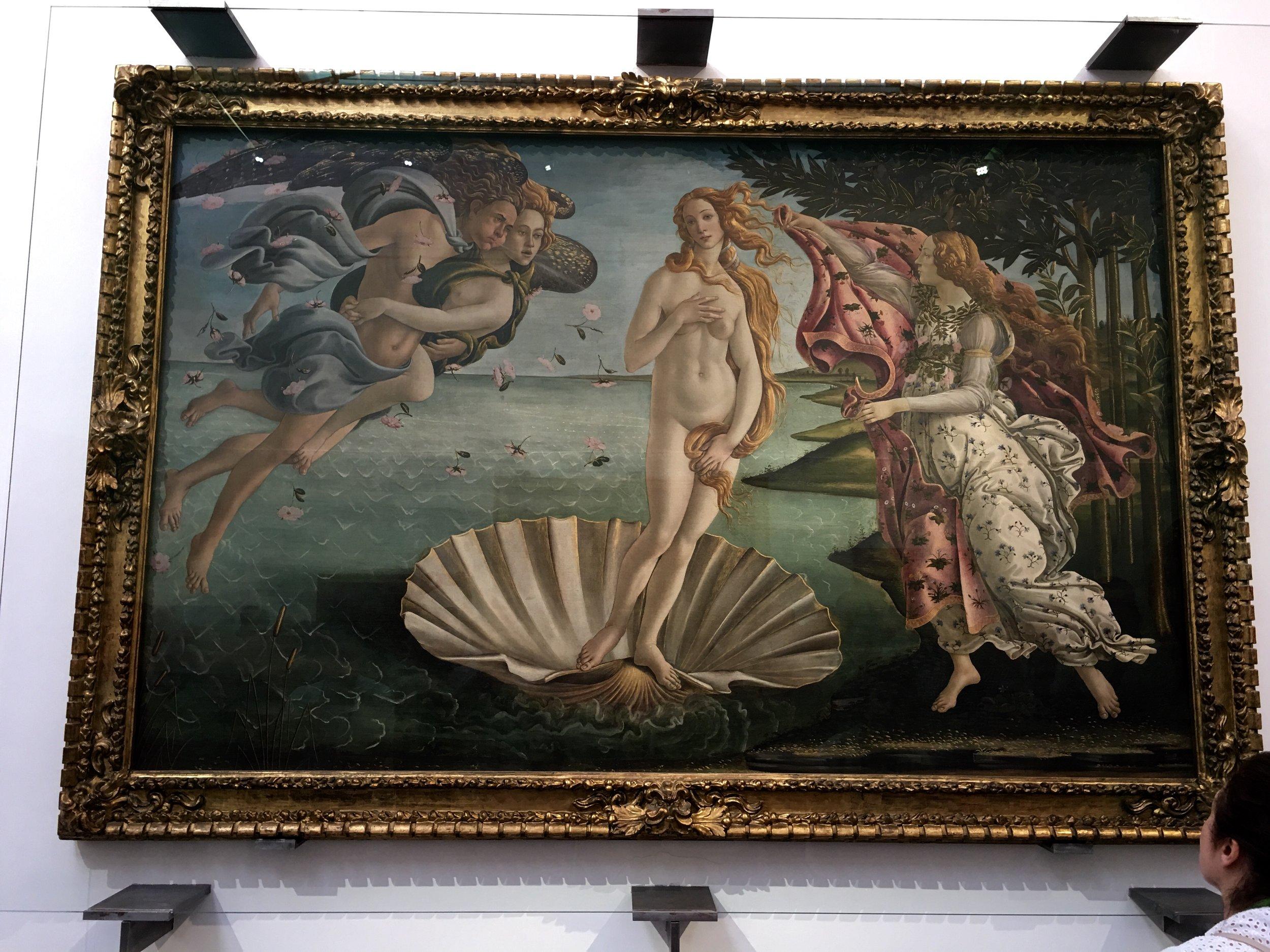 BOTTICELLI - THE BIRTH OF VENUS