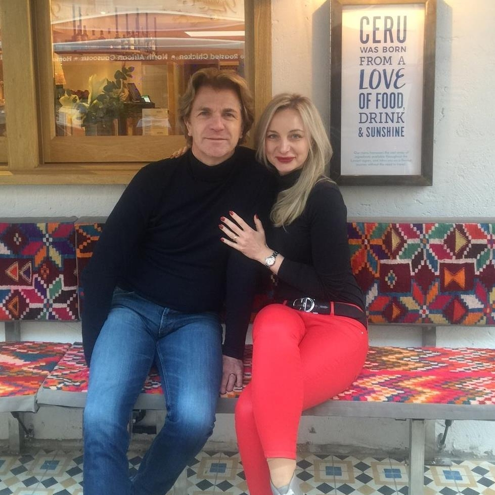 Ceru's Barry and Patricia Hilton sit inside Ceru restaurant posing for the camera
