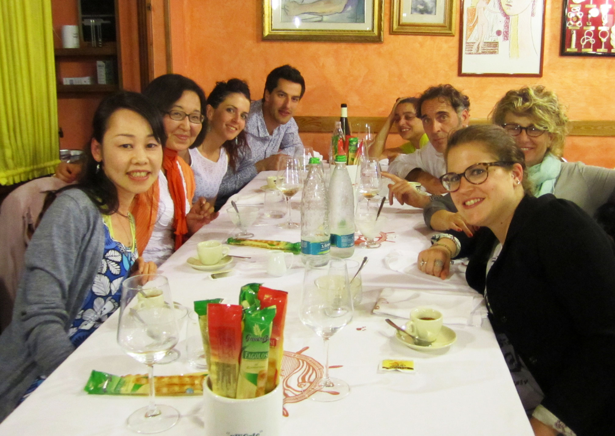 Dinner after the show with project team @Cesena, May 2014