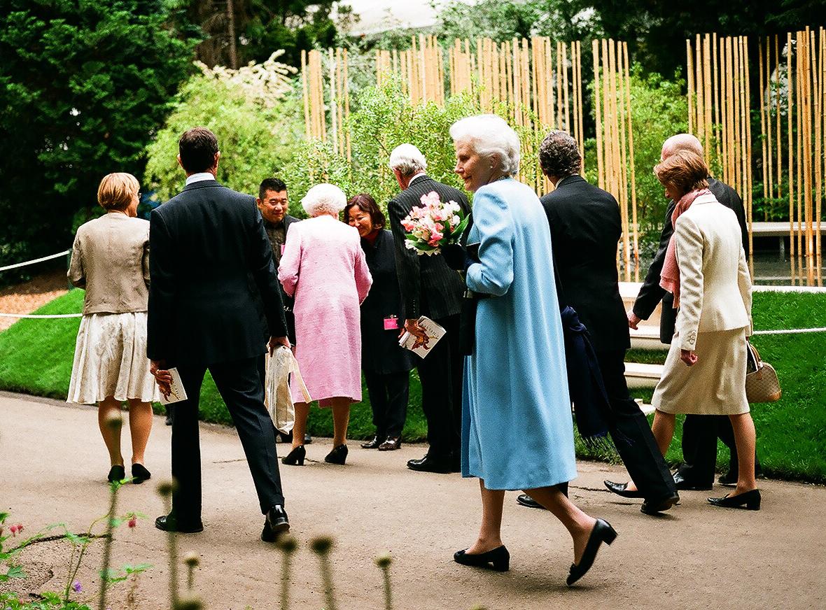 Chelsea Flower Show 2008, with her majesty the queen Elizabeth II