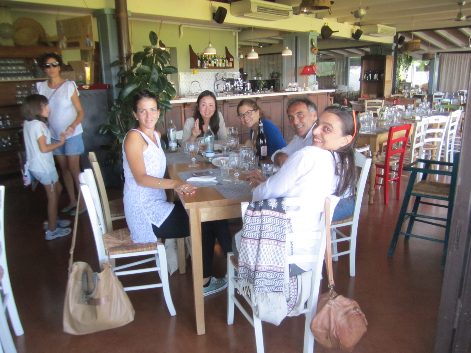 Reunion with architects of CSPE studio Cesena September 2015 (from left: Francesca, Saori, Giulia, Marco and Camilla)