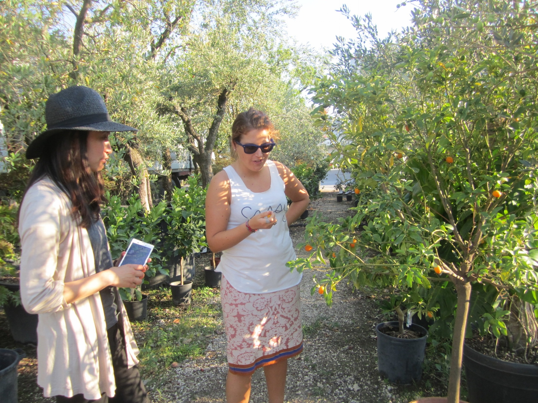 Saori and Giulia @ Vivai Battistini in Cesena, September 2015