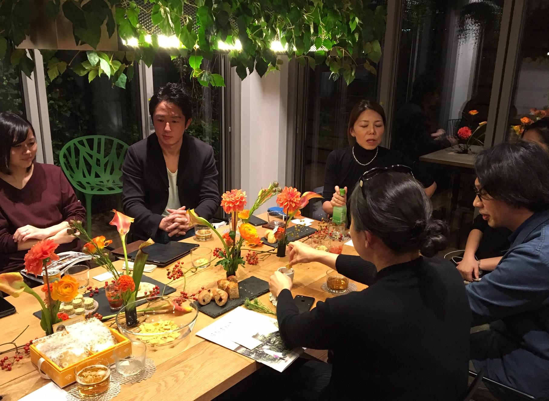 Hanamaneki meeting with architects, flower designers and art coordinator, Tokyo November 2018