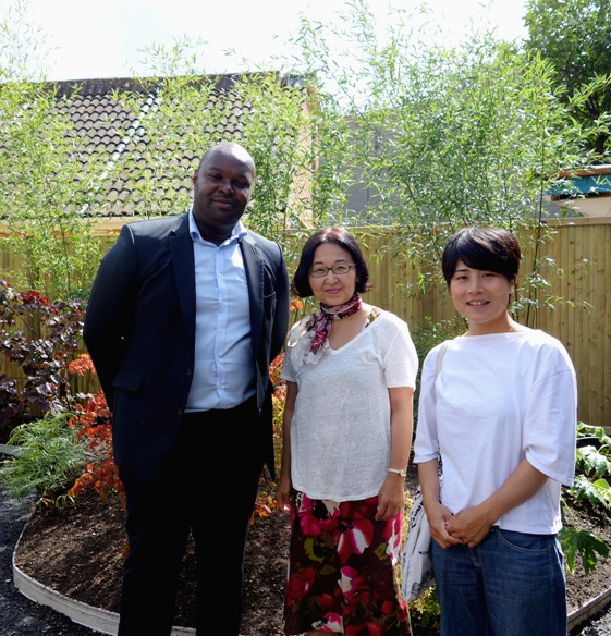 Beecholme House Adult Care (with the client Myron and a gardener Akiko) Surrey, UK August 2017