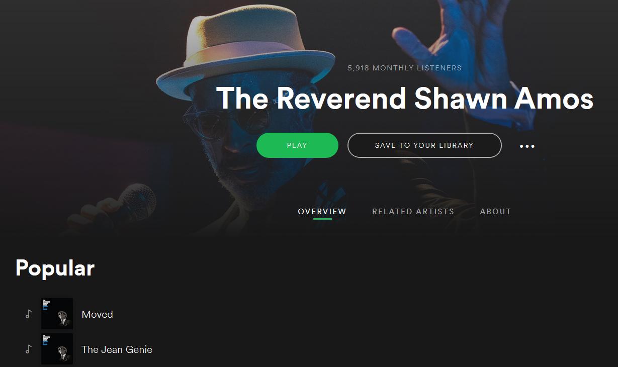 Shawn Amos Spotify