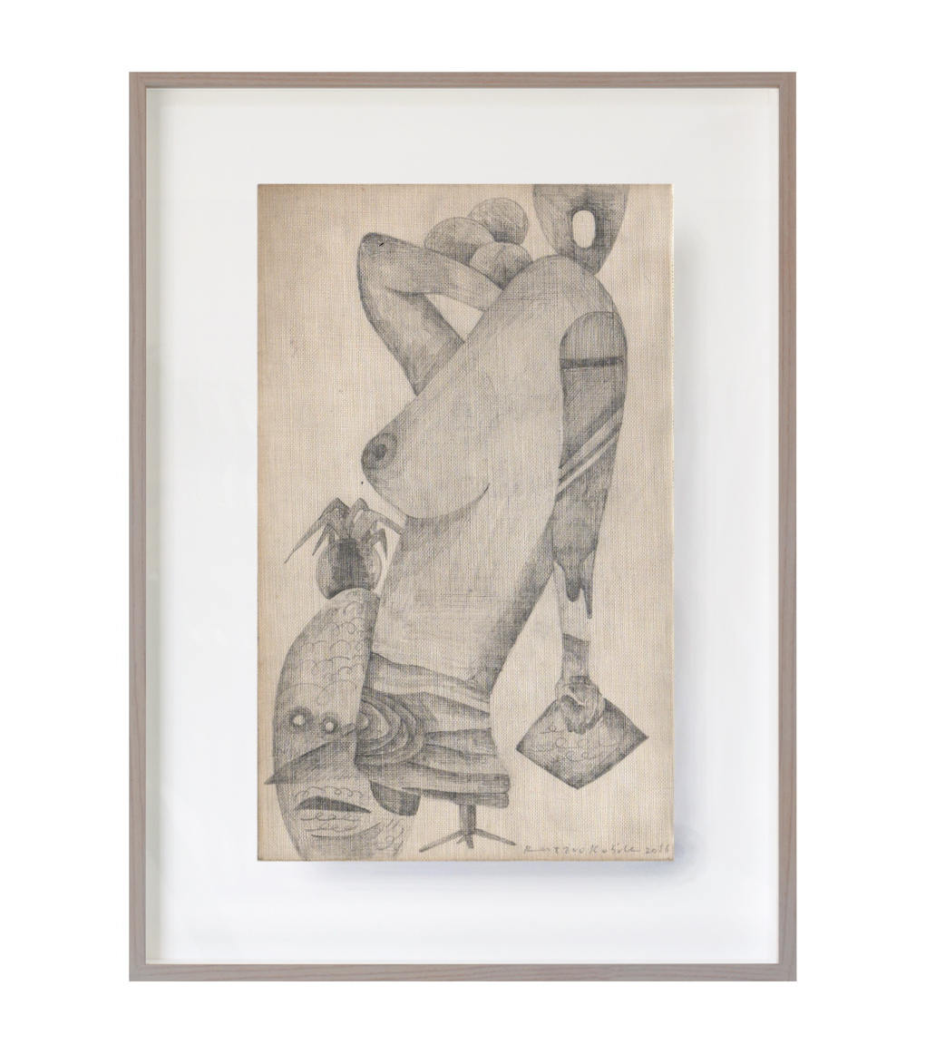 Untitled,   2016   (Study for Sculpture)    11cm x 17.5cm  Pencils on paper
