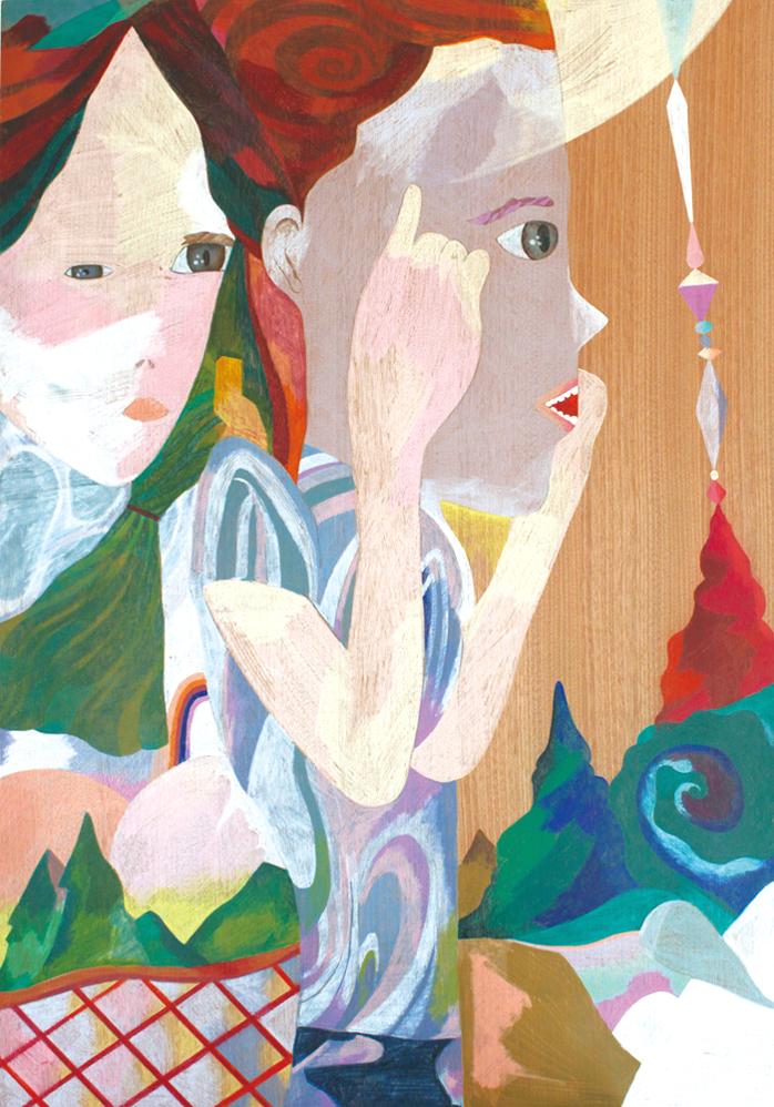 Twos 2,   2014  841cm x 594 cm  Colour pencils on wood