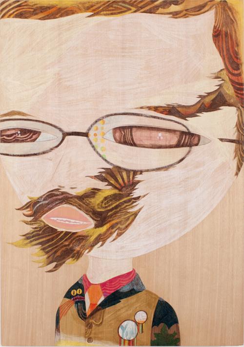 Eyed,  2009  81.4cm x 59.4cm  Colour pencils on wood