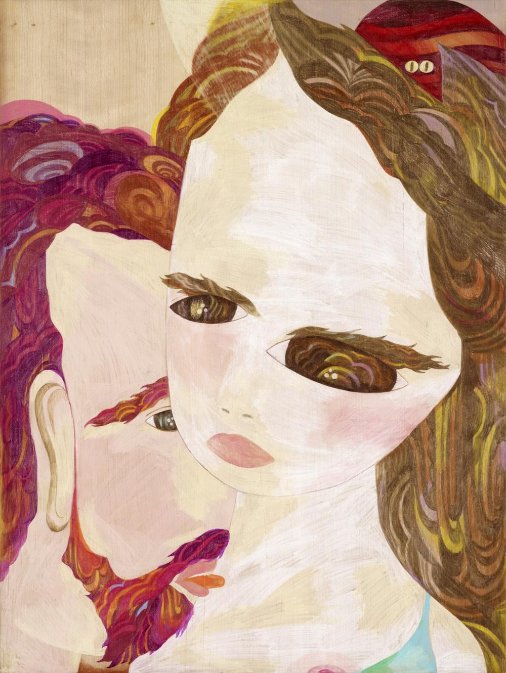Sophie,  2010  80cm x 60m  Colour pencils on wood