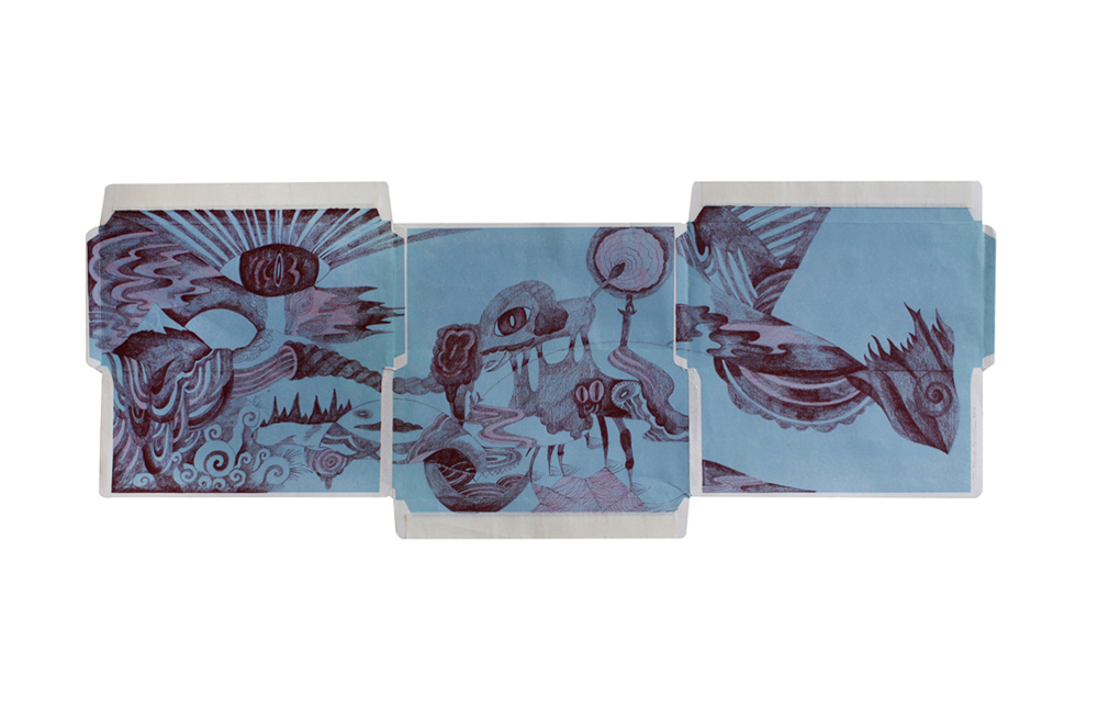Letter 7,  2009  Dimension Vary  Colour pencils on envelopes