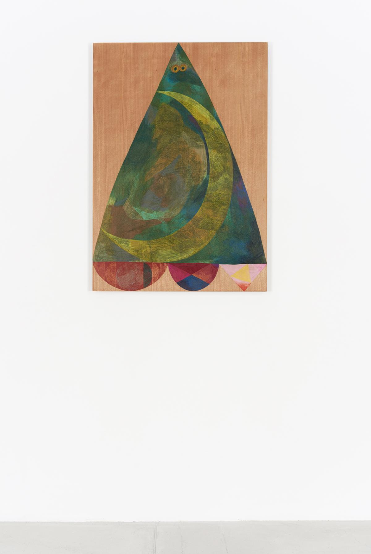 The Crescent  ,  2017  84.1m x 59.5cm  Colour pencils on wood