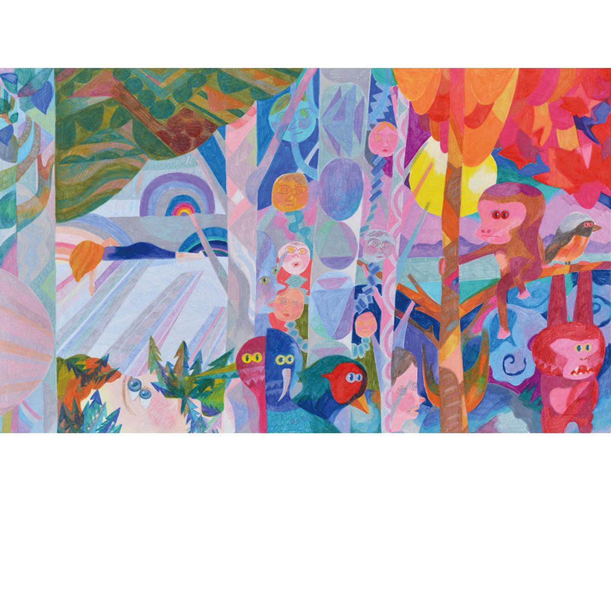 Re-Kaido Niigata,   2018  48cm x 80cm  Colour pencils on paper