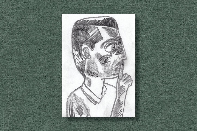 By Pencils,   2019  21cm × 29.7cm pencils on paper