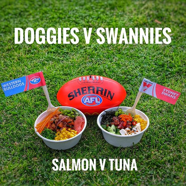 Team Poki Time is rooting for the @westernbulldogs, go DOGGIES!  What is your pick? #westernbulldogs or #sydneyswans . . . #pokitimeau #pokitime #melbourne #afl #aflfinals2016 #aflfinals #westernbulldogs #sydneyswans #sydney #melbournelife #melbournefood #melbourneiloveyou