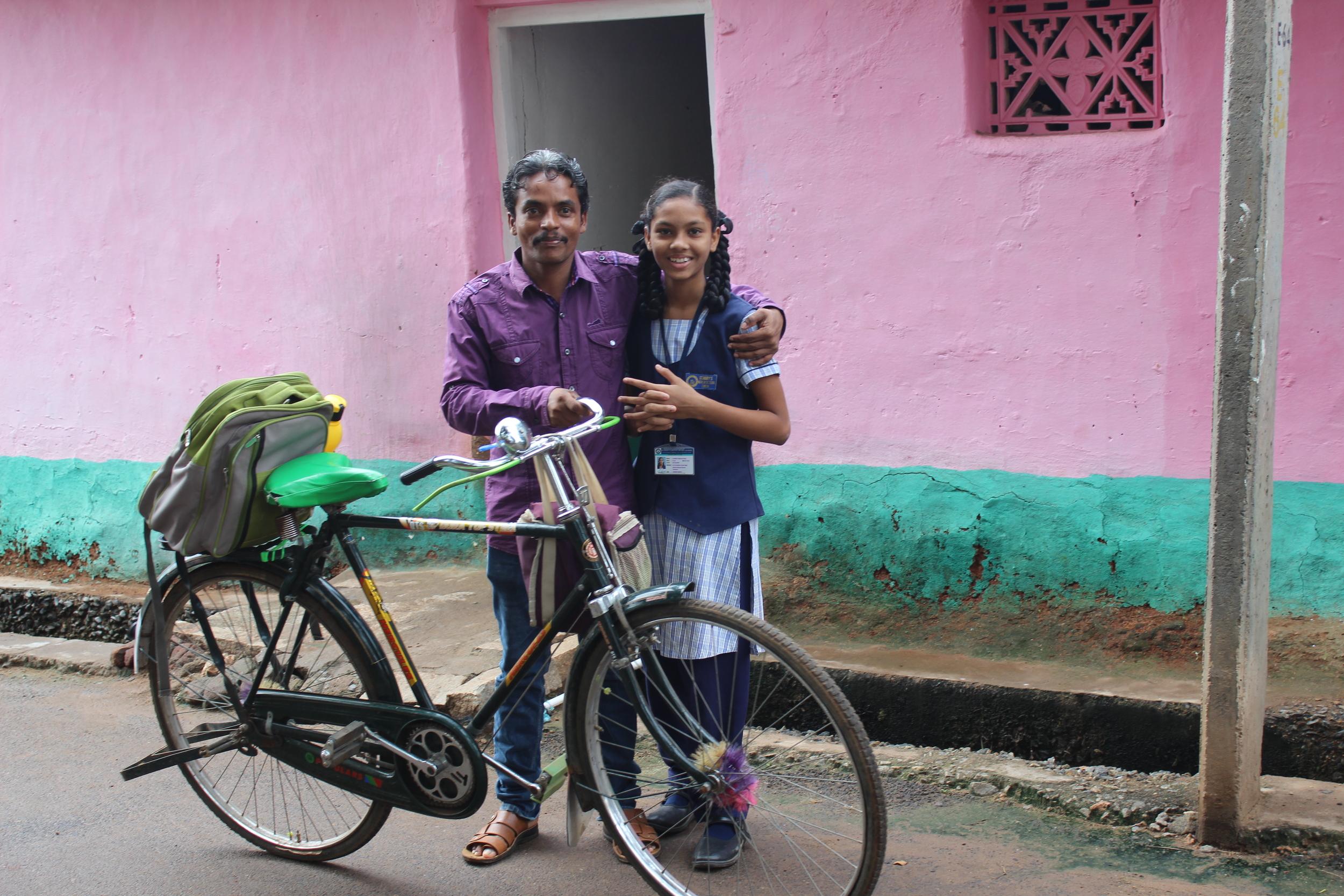 Ashish Kumar and his daughter