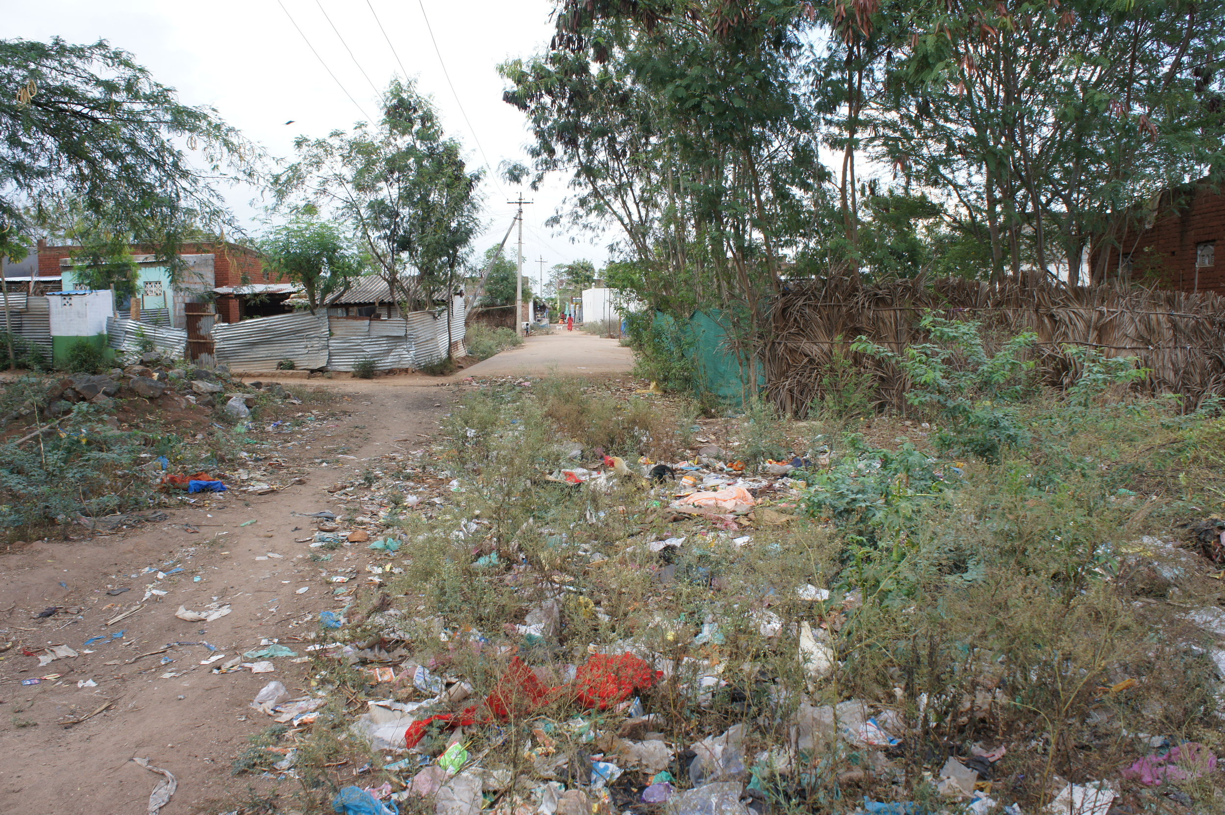 Streets filled with rubbish