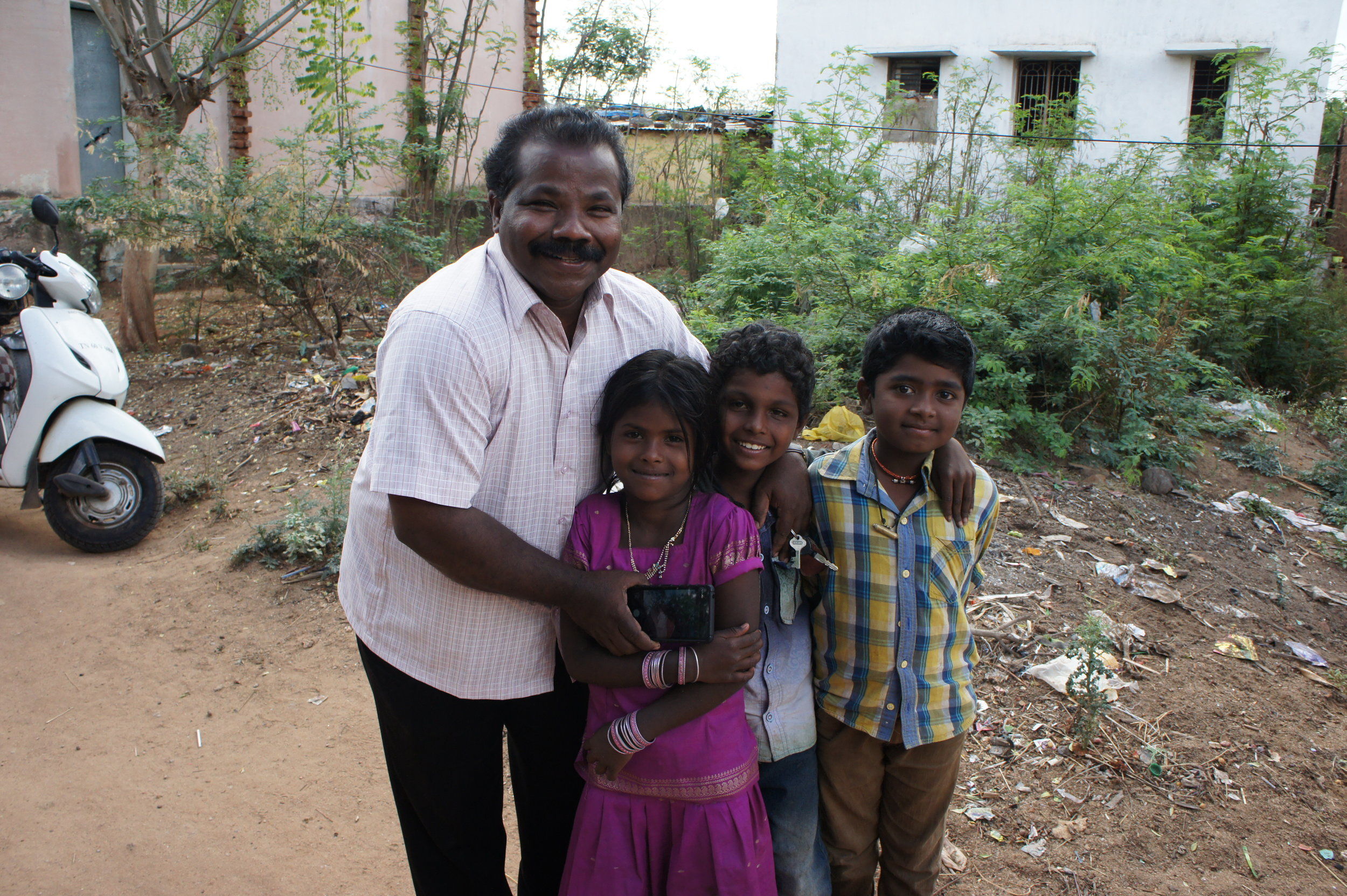 Rev. David and some of the children he knows