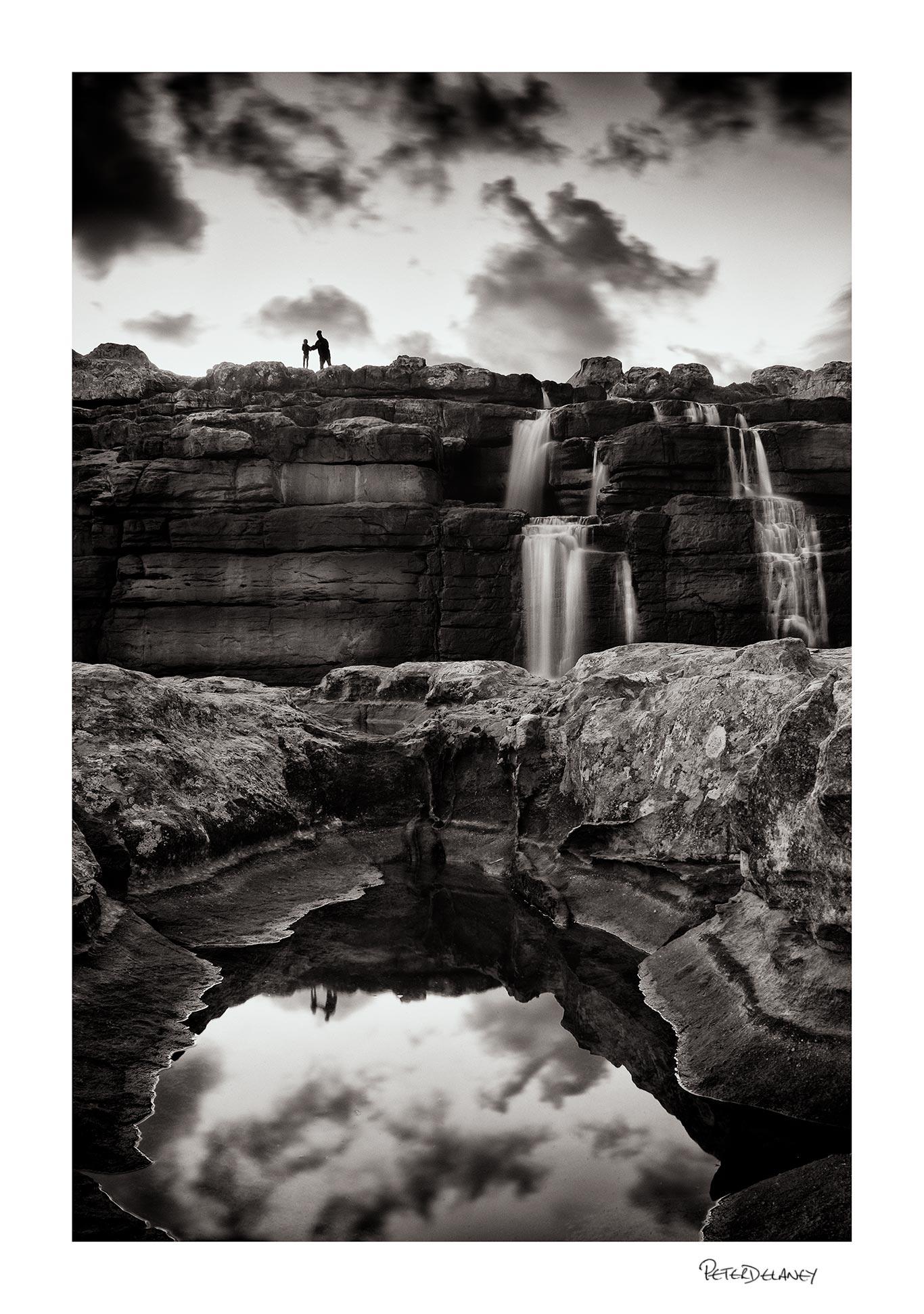 Mother and Child Waterfall Fine Art Print              FujiFilm XT-2, 18-55mm plus Lee Filter Big Stopper