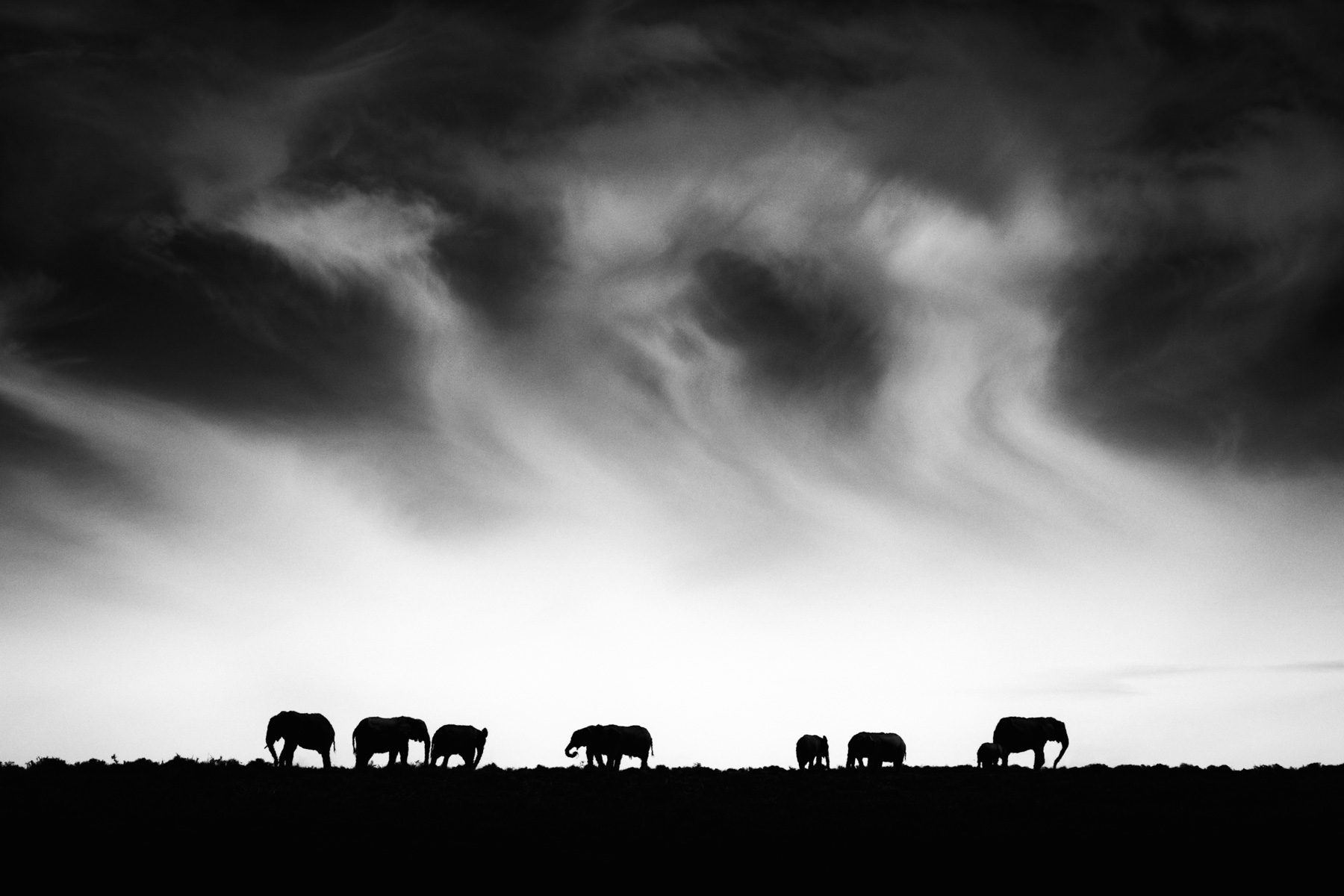 Elephant ridge and clouds