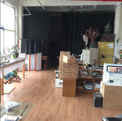 Packing up everything in the old studio on 53rd St.