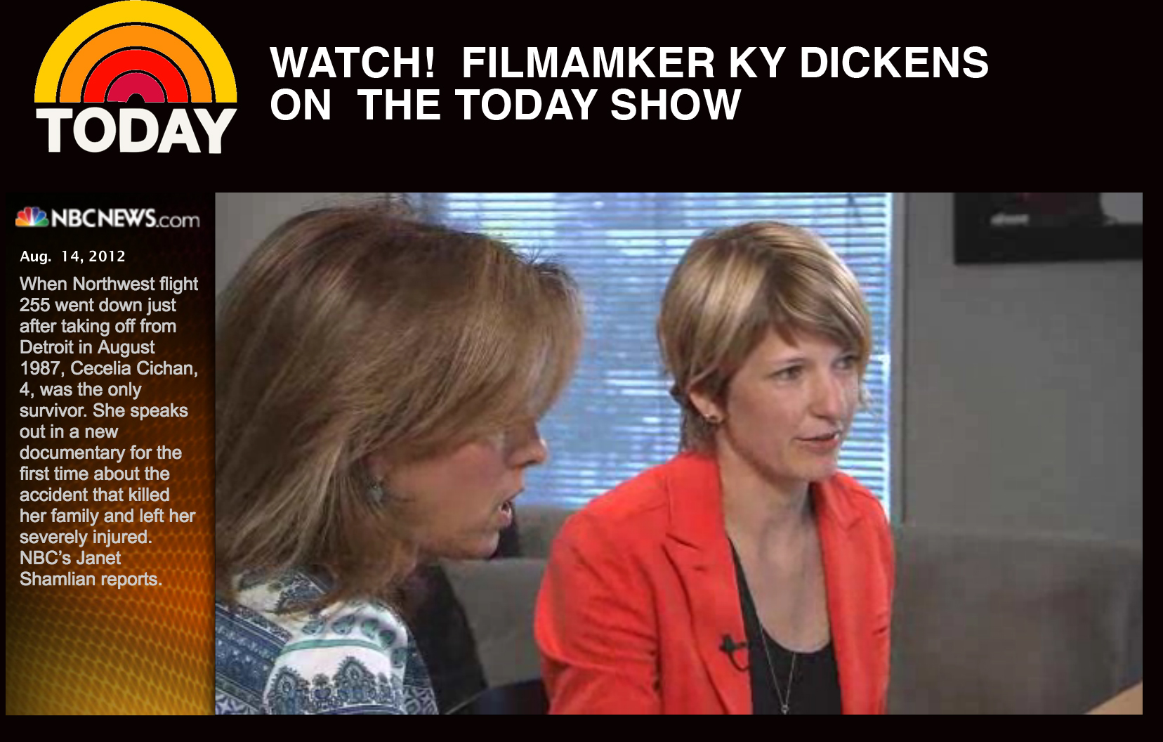 Watch Ky Dickens on the Today Show  here