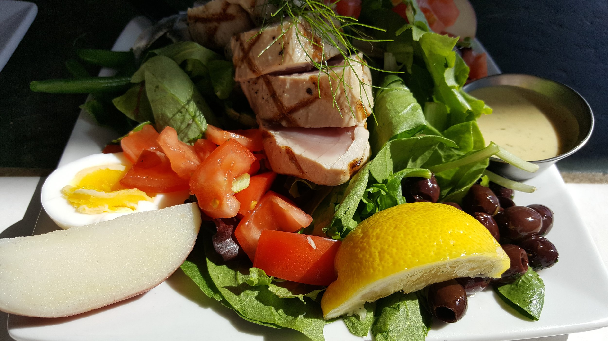 Lunch at one of my favorite restuarants along the Coast - Tuna Nicoise @ Local Seafoods- Newport, Oregon