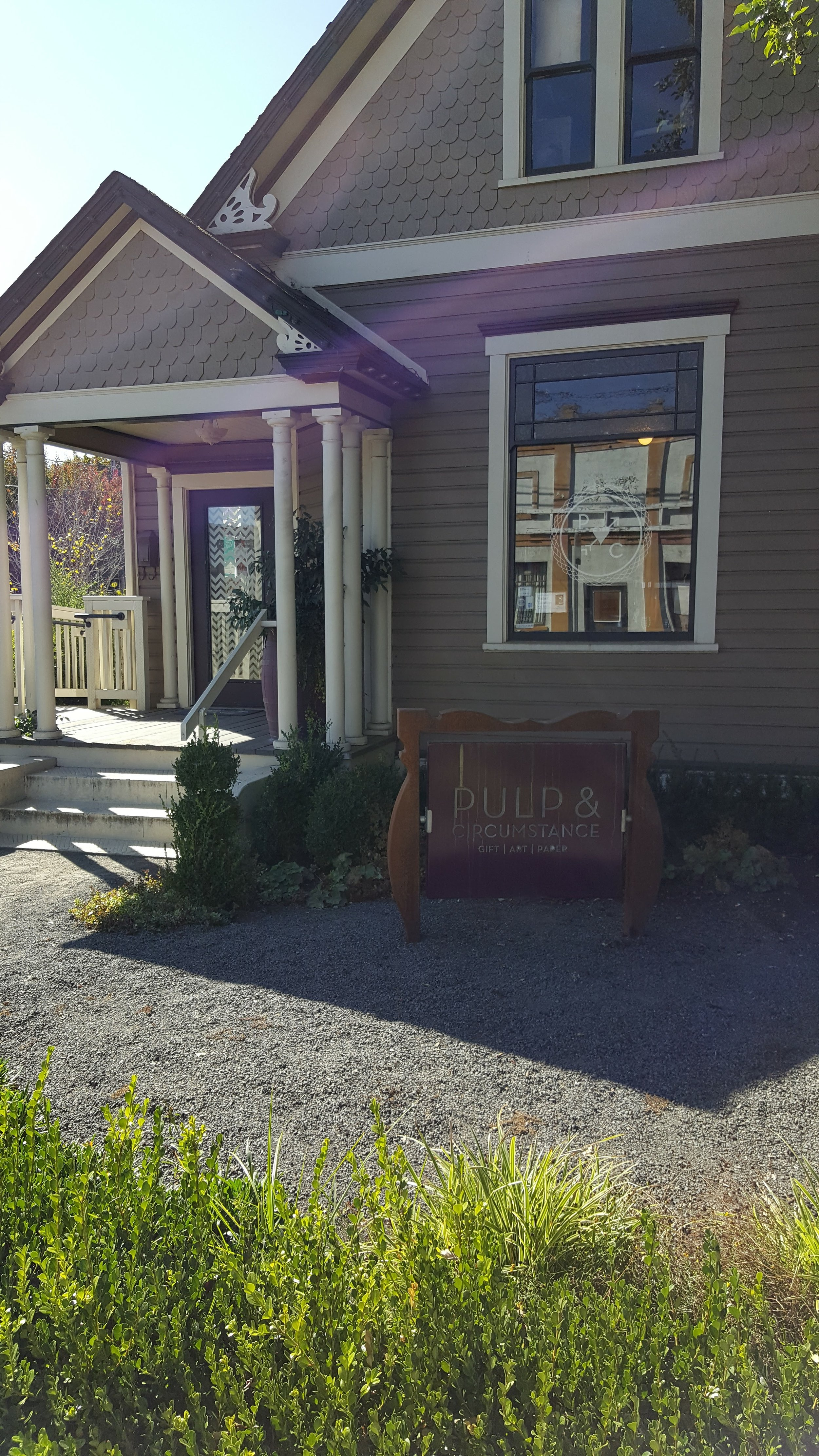 Pulp & Circumstance - Newberg, Oregon - such a clever name with a creative interior to match