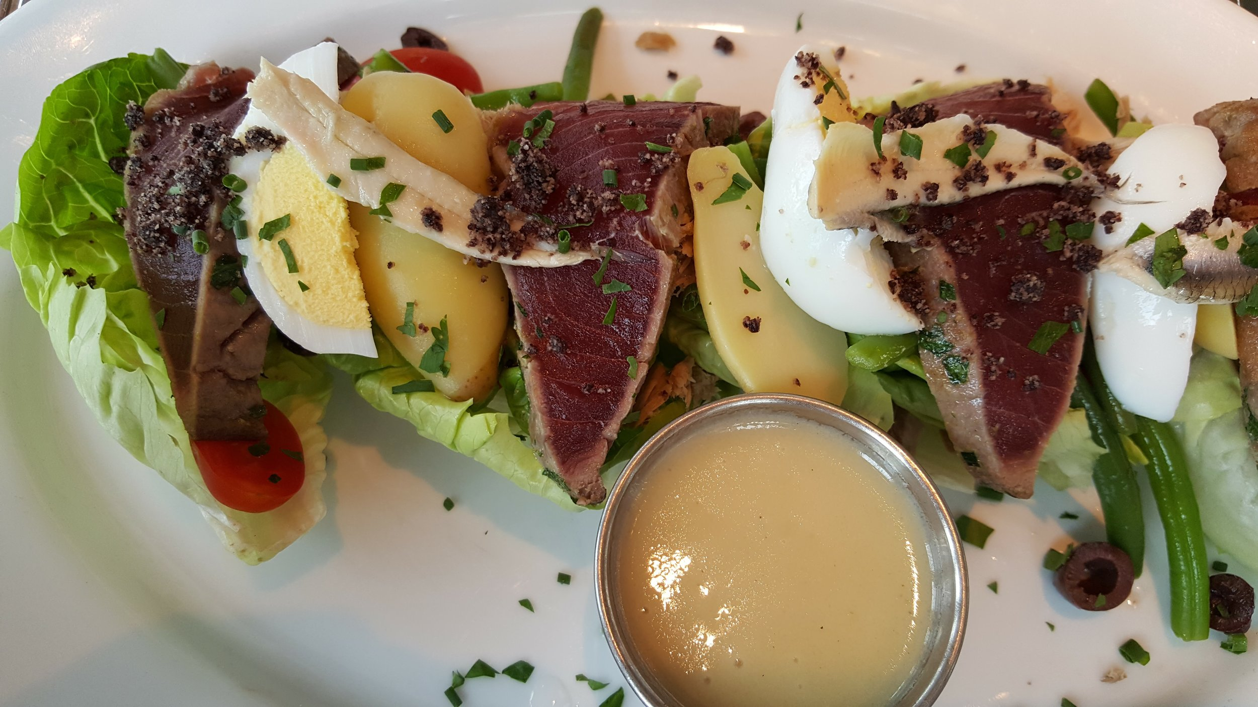 Lunch at the Avenue in Long Branch - My favorite dish - Tuna Nicoise .. I get this every time!